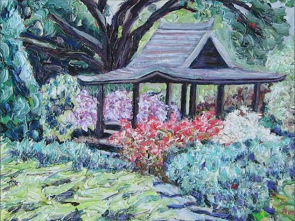 Garden Poster featuring the painting Japanese Garden by Richard Nowak