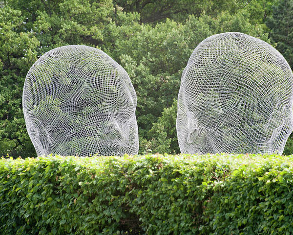 Jaume Plesna Sculpture Landscape Yorkshire Sculpture Park Poster featuring the photograph Jaume Plesna At Yorkshire Sculpture Park by Jerry Daniel