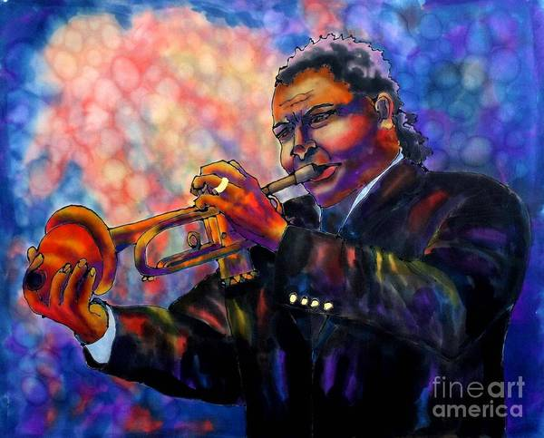 Trumpet Poster featuring the painting Jazz Solo by Linda Marcille