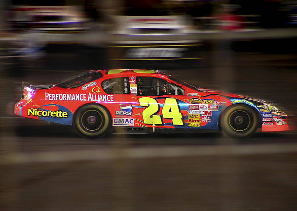 Jeff Gordon Poster featuring the photograph Jeff Gordons Cup Car by Kenneth Krolikowski
