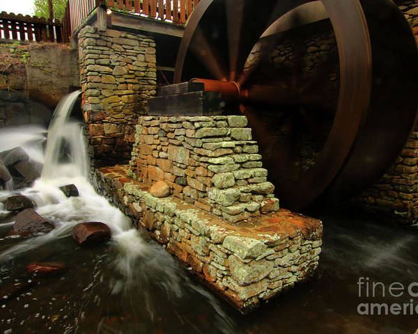 Mill Poster featuring the photograph Jenny Grist Mill by Jim Beckwith