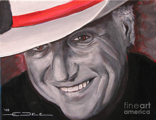 Jerry Jeff Walker Poster featuring the painting Jerry Jeff Walker by Eric Dee