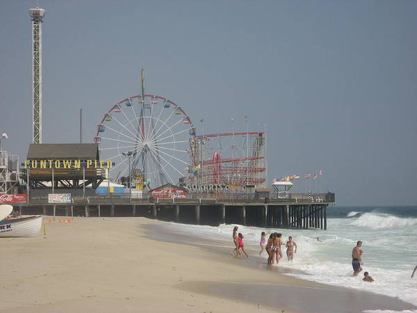 Beach Poster featuring the photograph Jersey Shore Summer by Jennifer Sweet