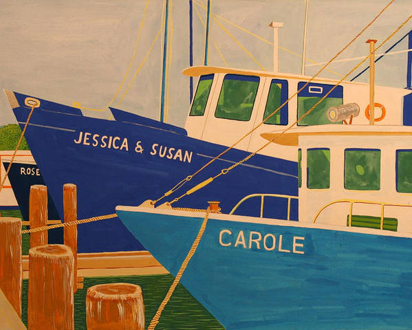 Marine Poster featuring the painting Jessica and Susan by Biagio Civale