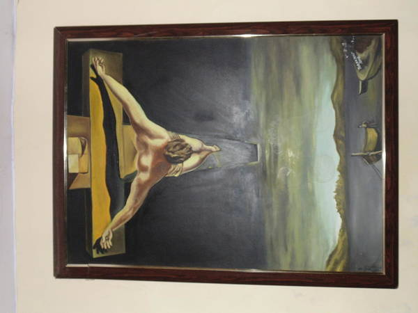 Jesus Christ .hand Made .oil On Canvas. Poster featuring the painting Jesus Christ by Jobanjeet Singh