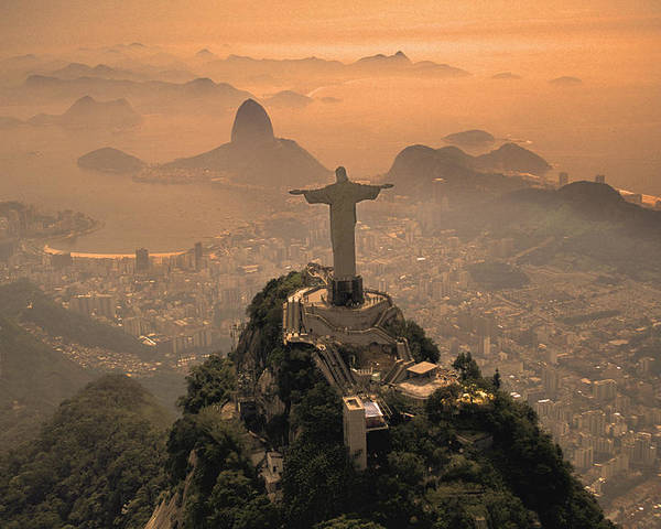 Jesus Poster featuring the photograph Jesus In Rio by Christian Heeb