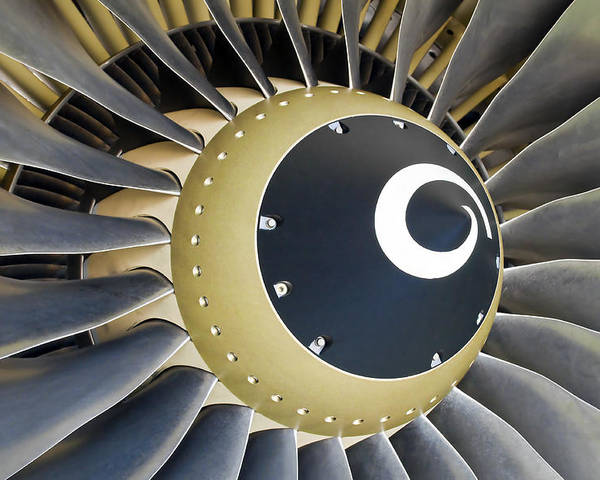Engine Poster featuring the photograph Jet Engine Detail. by Fernando Barozza