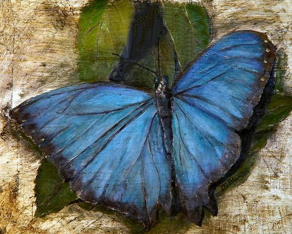 Butterfly Poster featuring the painting Jewel of the Garden by Merle Blair