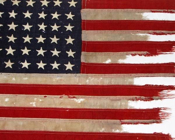Flag Poster featuring the photograph Jfk's Pt-109 Flag by Lori Pessin Lafargue