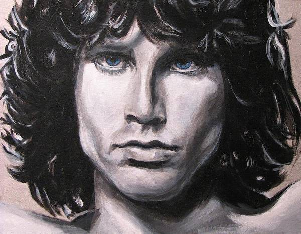 Jim Morrison Poster featuring the painting Jim Morrison - The Doors by Eric Dee