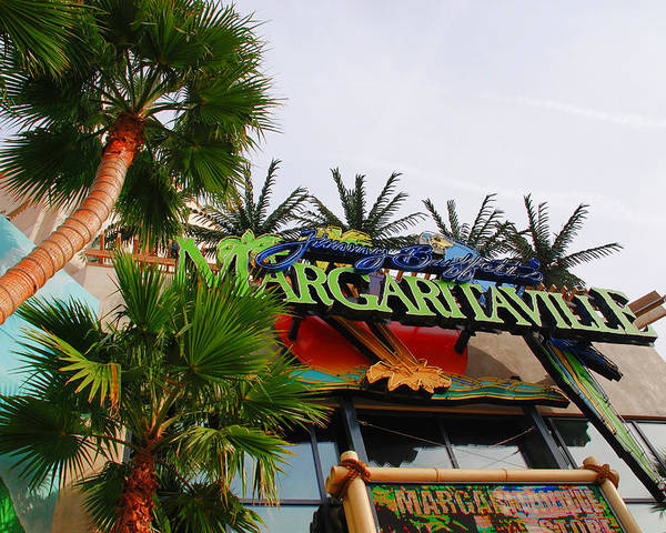 Photography Poster featuring the photograph Jimmy Buffets Margaritaville In Las Vegas by Susanne Van Hulst