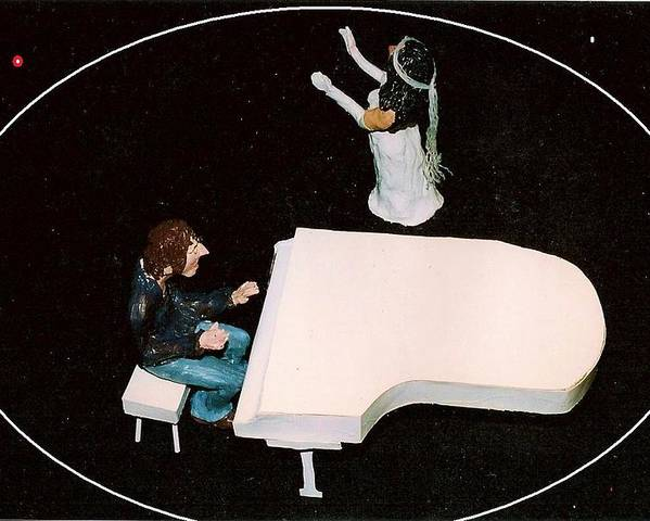 Beatles Poster featuring the mixed media John And Yoko Soul Searching by Richard Hubal
