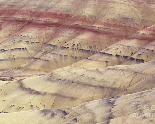 Abstract Poster featuring the photograph John Day Fossil Beds by Greg Vaughn - Printscapes