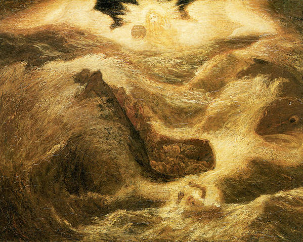 Albert Pinkham Ryder Poster featuring the painting Jonah by Albert Pinkham Ryder