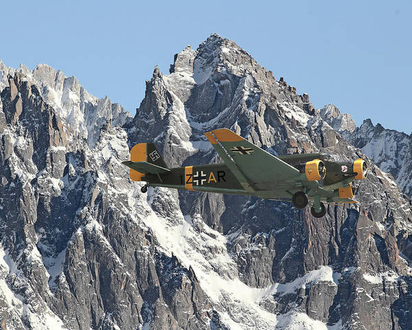 Aircraft Poster featuring the photograph Ju52 - Lutwaffe Stalwart by Pat Speirs