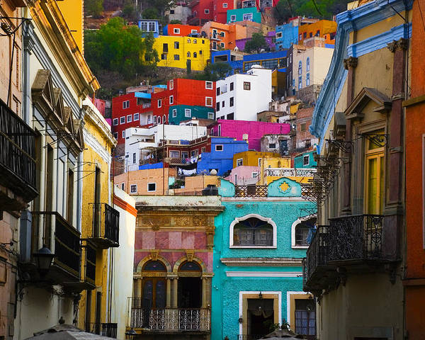 Architecture Poster featuring the photograph Juegos In Guanajuato by Skip Hunt
