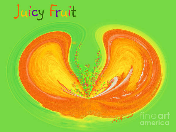 Juicy Fruit Poster featuring the painting Juicy Fruit by Methune Hively