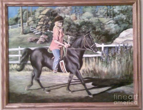 Portraiture Poster featuring the painting Julie And Shane by Carol Wisniewski