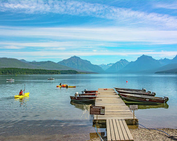 Montana Poster featuring the photograph July 4th on Lake McDonald by Bryan Spellman