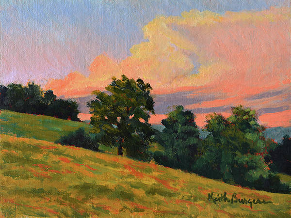 Impressionism Poster featuring the painting July Thunderhead by Keith Burgess