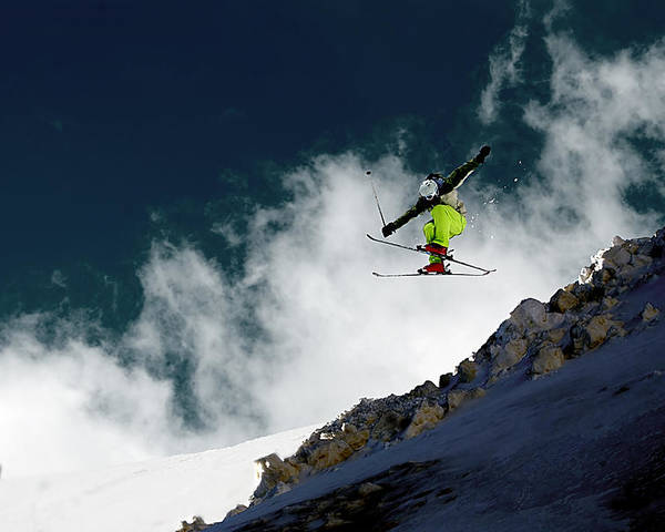 Ski Photographs Poster featuring the photograph Jump by Iurii Zaika
