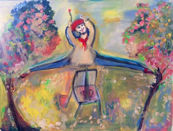 Dance Poster featuring the painting Jumping Jack The Artist by Judith Desrosiers