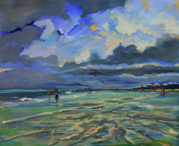 Original Poster featuring the painting June Afternoon Tidepool by Julianne Felton