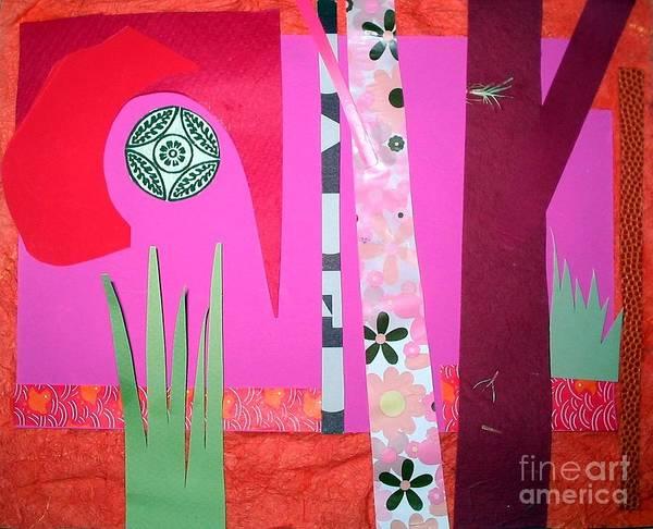Landscape Poster featuring the mixed media Jungle Temple by Debra Bretton Robinson