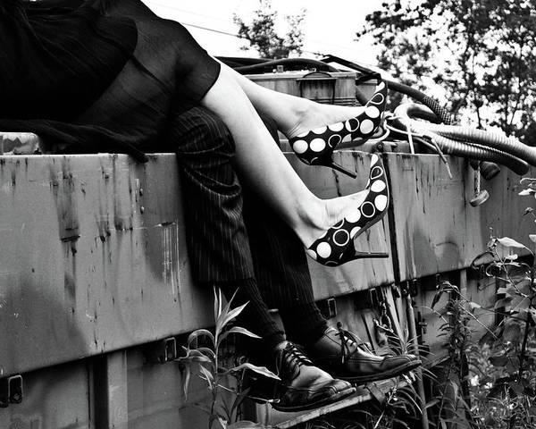 Feet Poster featuring the photograph Junkyard Love by Ragina Kakos