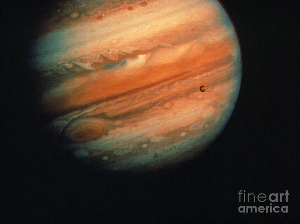 1970s Poster featuring the photograph Jupiter, Europa, & Io by Granger