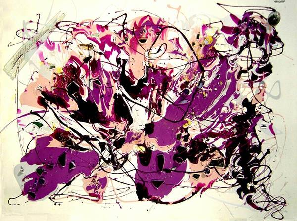 Abstract Poster featuring the painting Jupiter by Irma Hinghofer-Szalkay