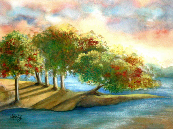 Landscape Poster featuring the painting Just My Imagination by Vivian Mosley