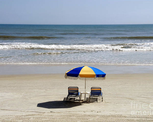 Beach Poster featuring the photograph Just The Two Of Us by David Lee Thompson