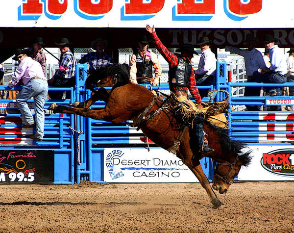 Rodeo. Rodeos Poster featuring the photograph Just Two More Seconds To Go by Joe Kozlowski
