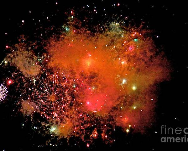 Fire Works Poster featuring the photograph Ka Boom by Robert Pearson