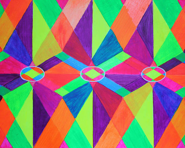 Kaleidoscope Poster featuring the painting Kaleidoscope Wise by Ann Sokolovich