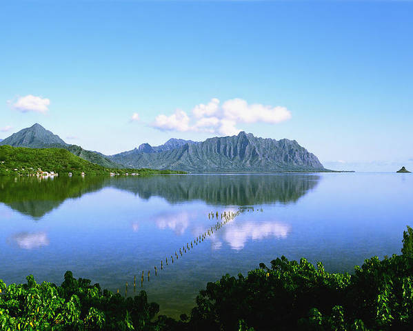 Kaneohe Bay Poster featuring the photograph Kaneohe Bay by Kevin Smith