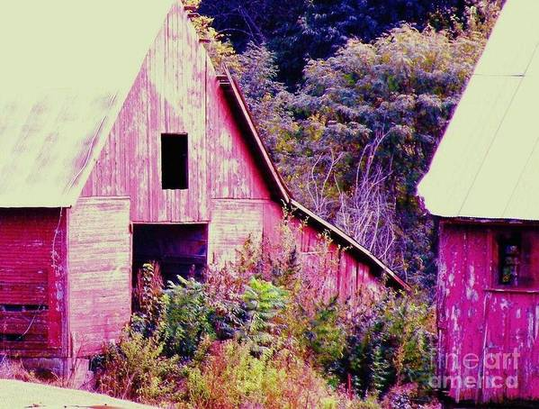 Barns Poster featuring the photograph Kansas Country by Christine Belt