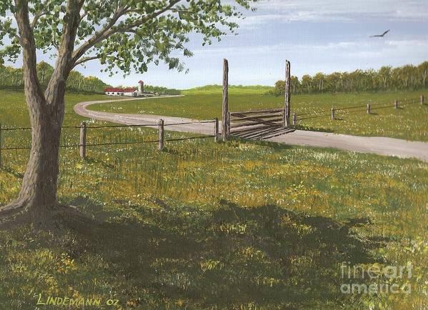 Kansas Poster featuring the painting Kansas Farm by Don Lindemann