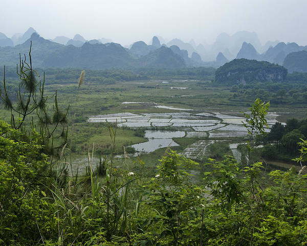 Asia Poster featuring the photograph Karst Landscape of Guangxi by Michele Burgess