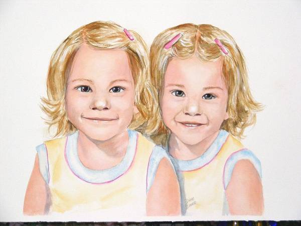 Commissions Poster featuring the painting Katy And Kym by Diane Ziemski