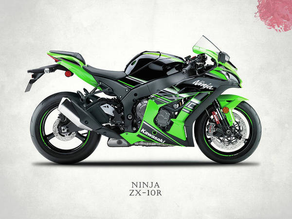 Poster Print Art A0 A1 A2 A3 A4 1554 KAWASAKI NINJA ZX 10R Motorbike Poster