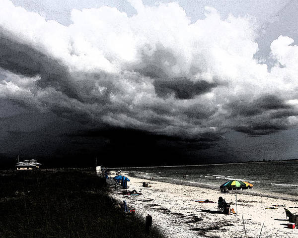 Beach Poster featuring the photograph Keep A Weather Eye by Danny Craig