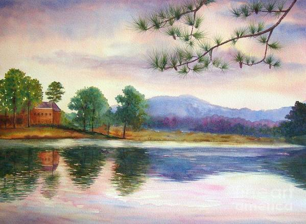Marietta Poster featuring the painting Kennesaw Mt. by Ann Cockerill