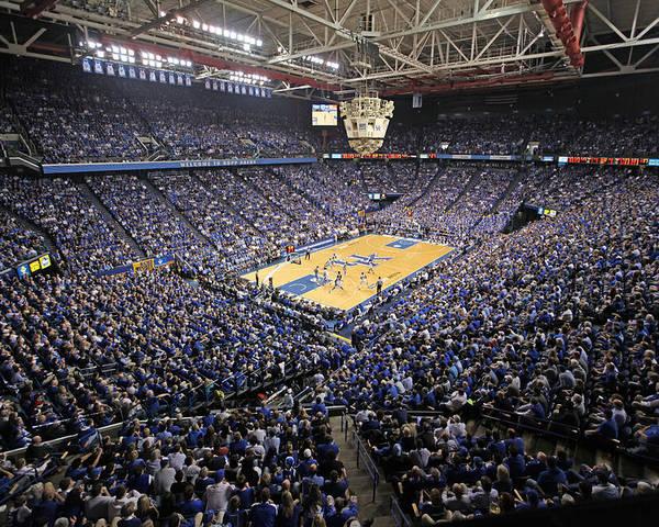 Lexington Poster featuring the photograph Kentucky Wildcats Rupp Arena by Replay Photos