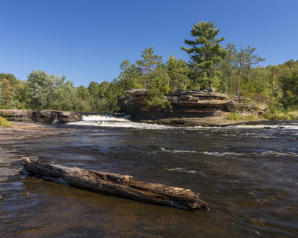 River Poster featuring the photograph Kettle River Big Spring Falls 6 by John Brueske