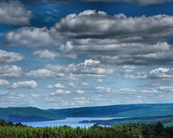 Lake Poster featuring the photograph Keuka Landscape Iv by Steven Ainsworth