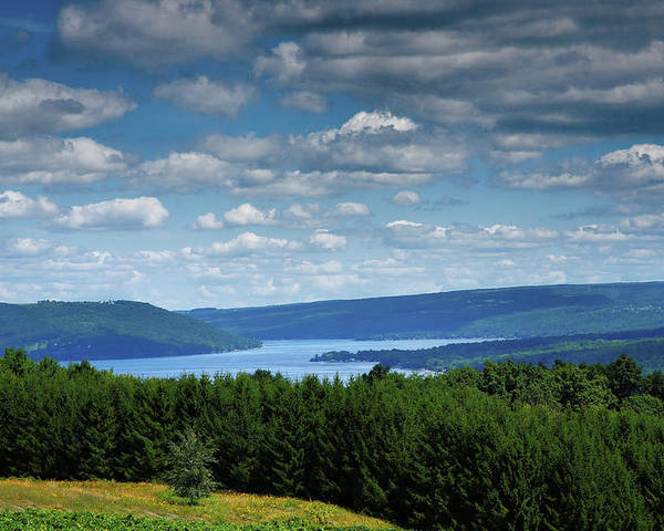 Lake Poster featuring the photograph Keuka Landscape V by Steven Ainsworth