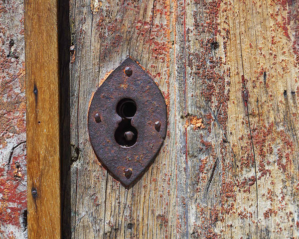 Abstract Poster featuring the photograph Key Hole by Carlos Caetano