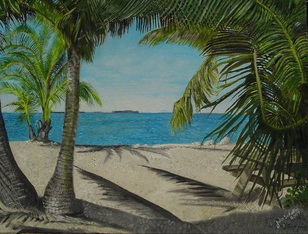Key West Poster featuring the painting Key West Clearing by John Schuller